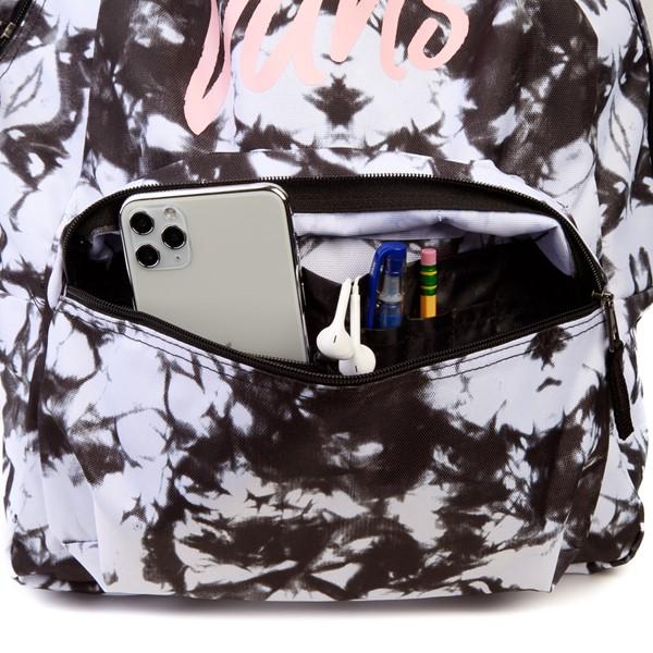alternate view Vans Realm Cloud Wash Backpack - Black / WhiteALT3B