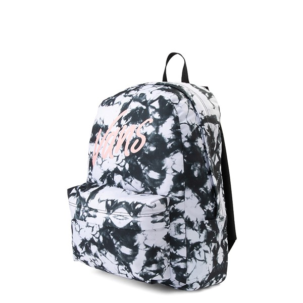 alternate view Vans Realm Cloud Wash Backpack - Black / WhiteALT4