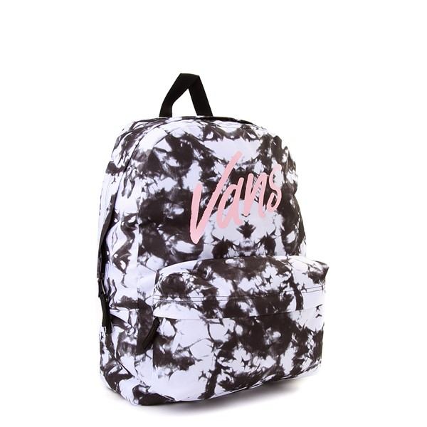 alternate view Vans Realm Cloud Wash Backpack - Black / WhiteALT4B