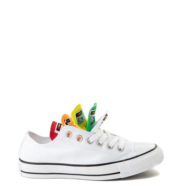 Alternate view of Converse Chuck Taylor All Star Lo Multi Tongue Sneaker - White / Multi