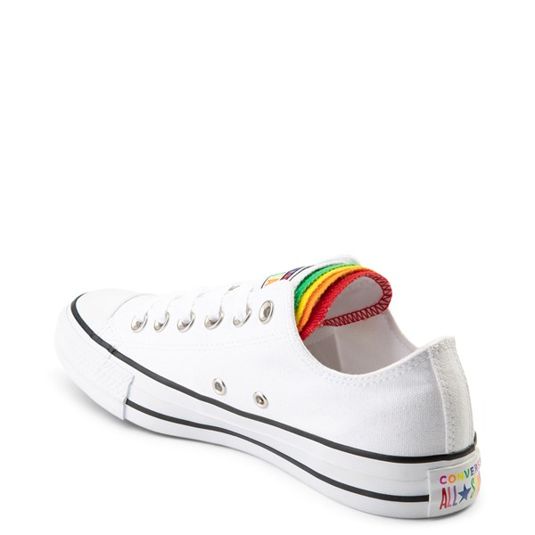 alternate view Converse Chuck Taylor All Star Lo Multi Tongue Sneaker - White / MultiALT2