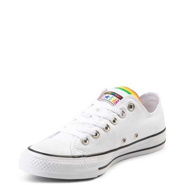 alternate view Converse Chuck Taylor All Star Lo Multi Tongue Sneaker - White / MultiALT3