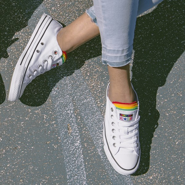 alternate view Converse Chuck Taylor All Star Lo Multi Tongue Sneaker - White / MultiB-LIFESTYLE1