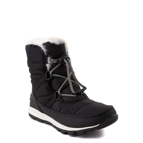 alternate view Sorel Whitney™ Short Boot - Little Kid / Big Kid - BlackALT1