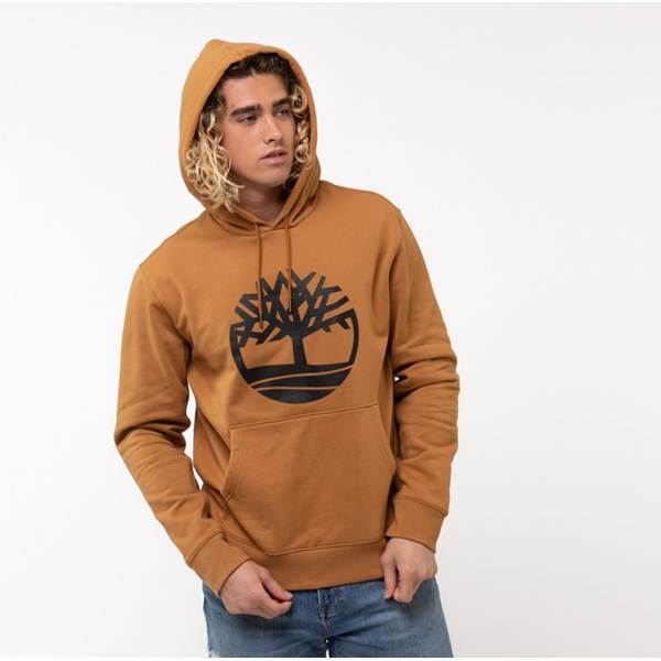alternate view Mens Timberland Tree Logo Hoodie - WheatALT1