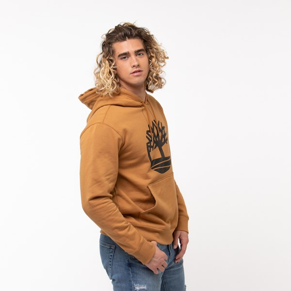 alternate view Mens Timberland Tree Logo Hoodie - WheatALT2