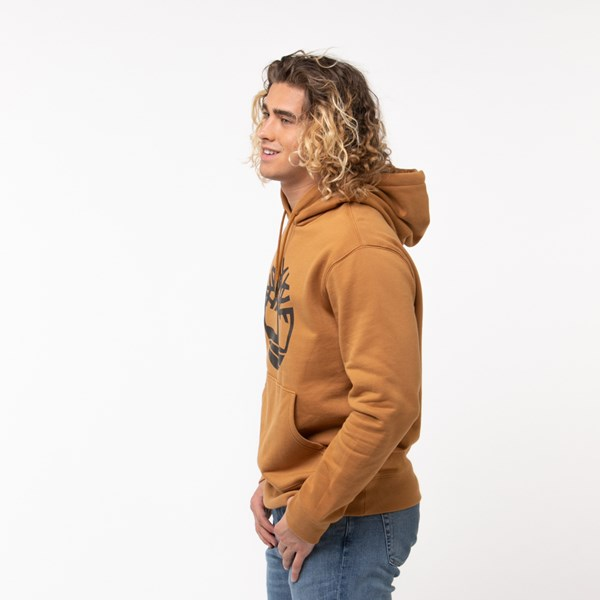 alternate view Mens Timberland Tree Logo Hoodie - WheatALT3