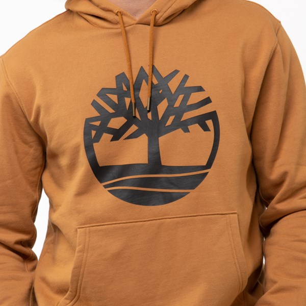 alternate view Mens Timberland Tree Logo Hoodie - WheatALT4