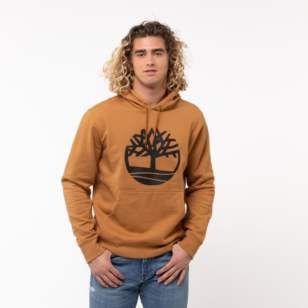 Mens Timberland Tree Logo Hoodie - Wheat