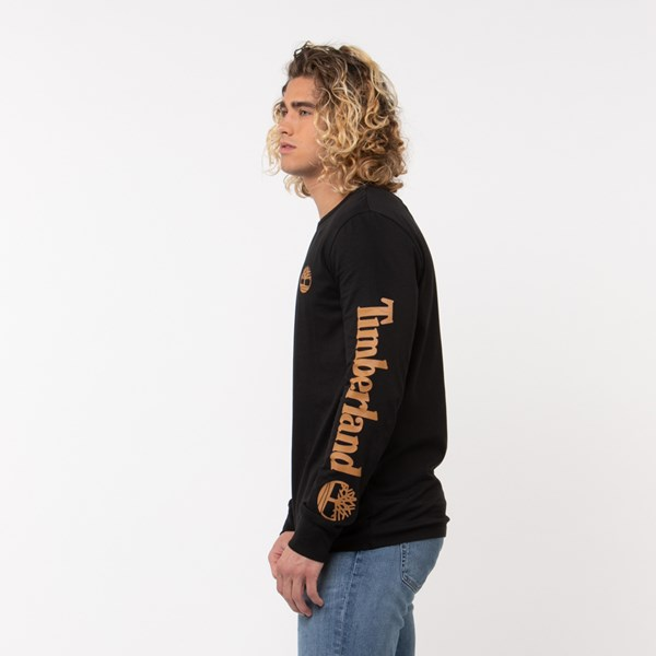 alternate view Mens Timberland Tree Logo Long Sleeve Tee - BlackALT1