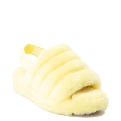 Alternate view of Womens UGG® Fluff Yeah Slide Sandal - Neon Yellow