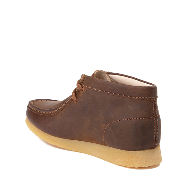 alternate view Clarks Originals Wallabee Chukka Boot - Little Kid - BrownALT1