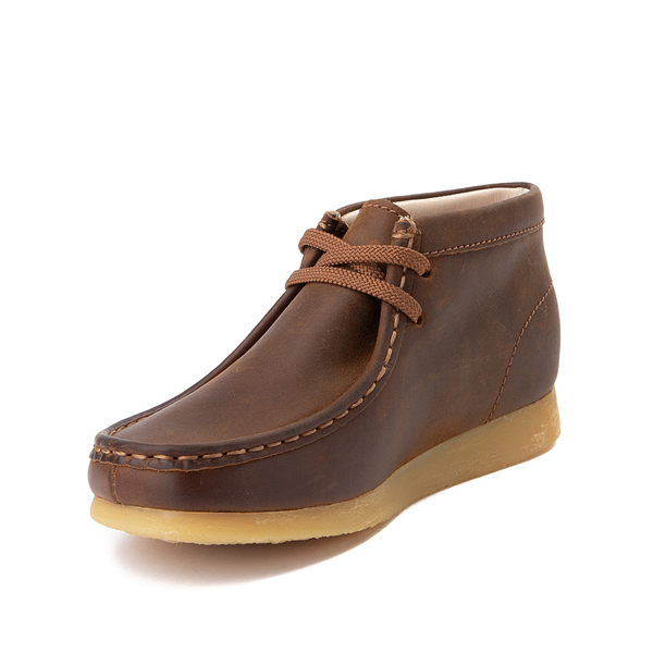 alternate view Clarks Originals Wallabee Chukka Boot - Little Kid - BrownALT2