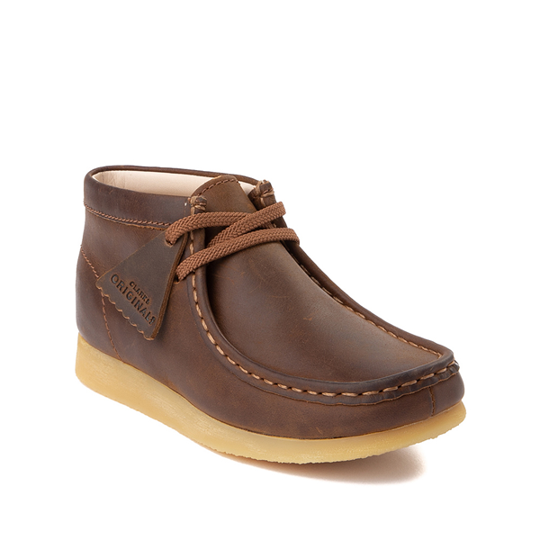alternate view Clarks Originals Wallabee Chukka Boot - Little Kid - BrownALT5