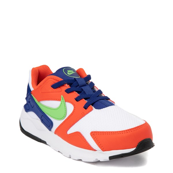 alternate view Nike LD Victory Athletic Shoe - Little Kid - White / Orange / GreenALT1