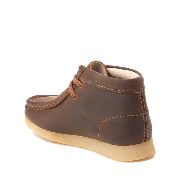 alternate view Clarks Originals Wallabee Chukka Boot - Toddler - BrownALT1