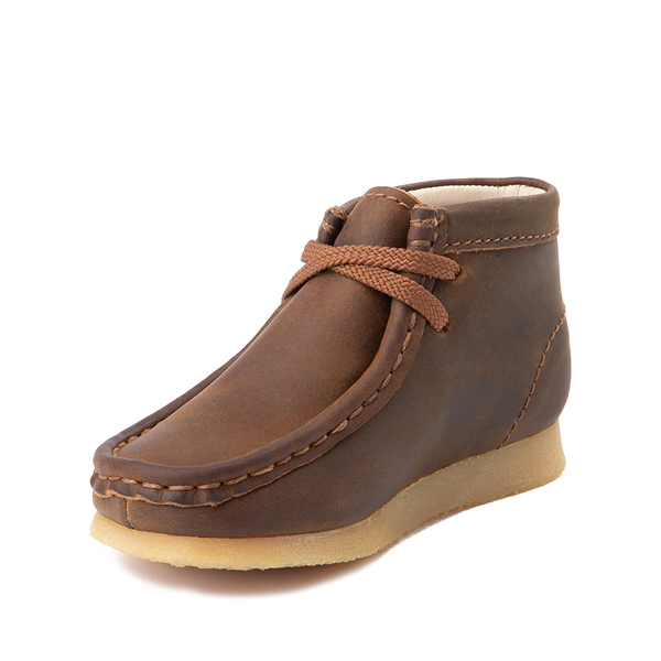 alternate view Clarks Originals Wallabee Chukka Boot - Toddler - BrownALT2