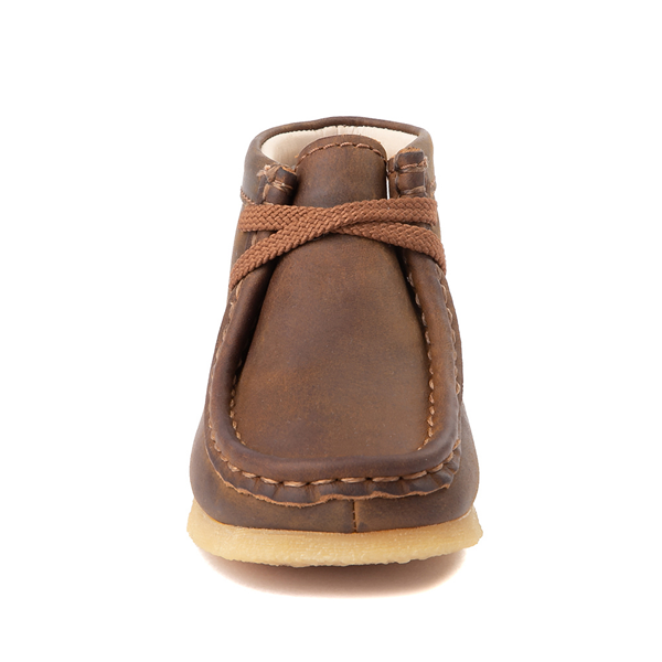 alternate view Clarks Originals Wallabee Chukka Boot - Toddler - BrownALT4