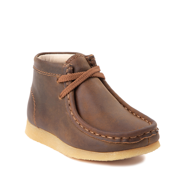 alternate view Clarks Originals Wallabee Chukka Boot - Toddler - BrownALT5