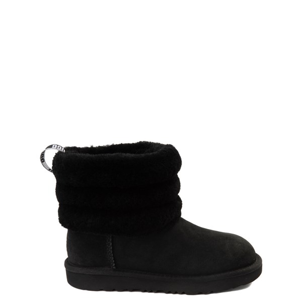 UGG® Classic Mini Fluff Boot - Little Kid / Big Kid - Black