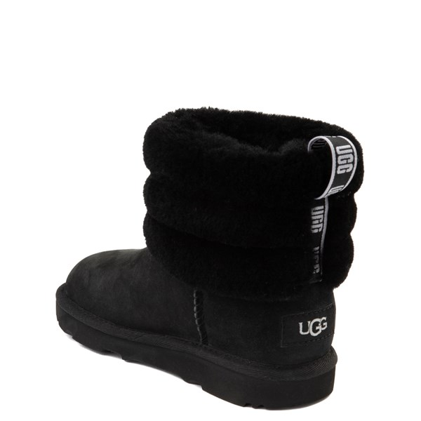 alternate view UGG® Classic Mini Fluff Boot - Little Kid / Big Kid - BlackALT2
