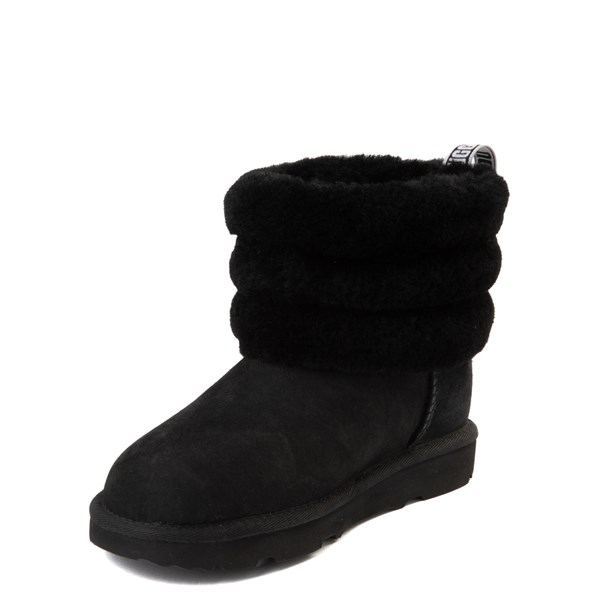 alternate view UGG® Classic Mini Fluff Boot - Little Kid / Big Kid - BlackALT3