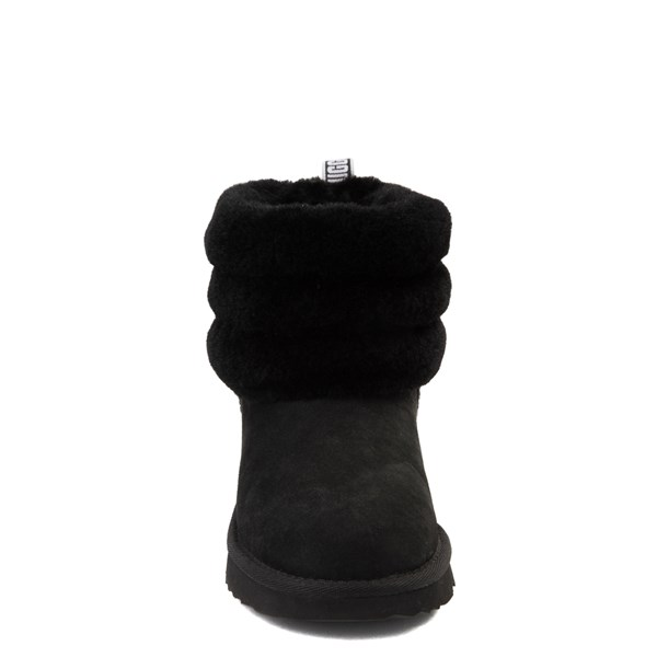 alternate view UGG® Classic Mini Fluff Boot - Little Kid / Big Kid - BlackALT4