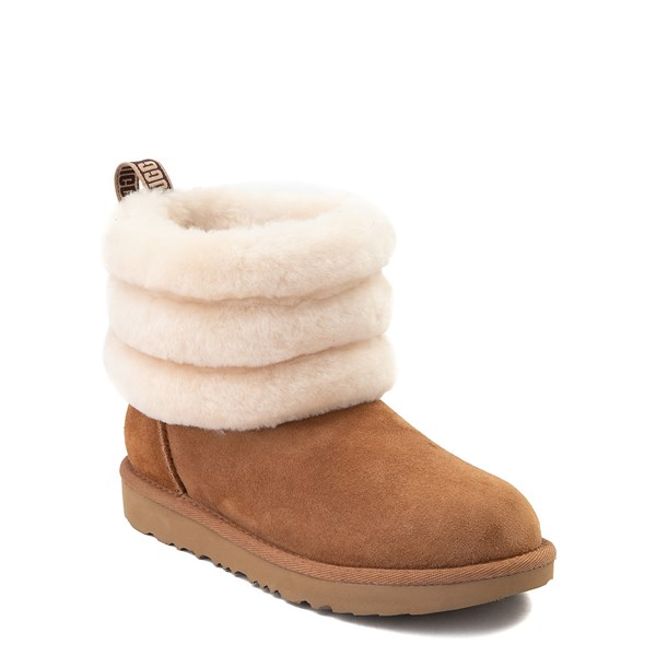 alternate view UGG® Classic Mini Fluff Boot - Little Kid / Big Kid - ChestnutALT1