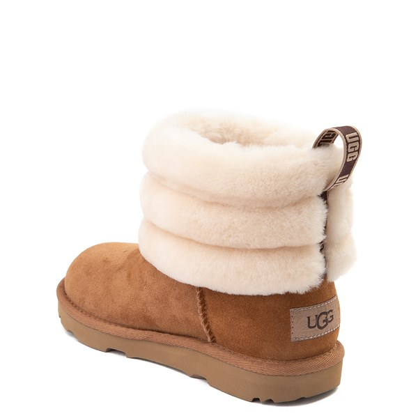 alternate view UGG® Classic Mini Fluff Boot - Little Kid / Big Kid - ChestnutALT2