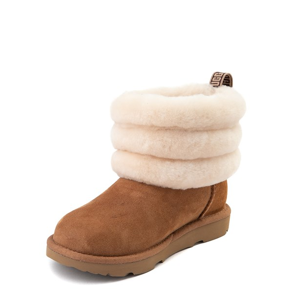 alternate view UGG® Classic Mini Fluff Boot - Little Kid / Big Kid - ChestnutALT3