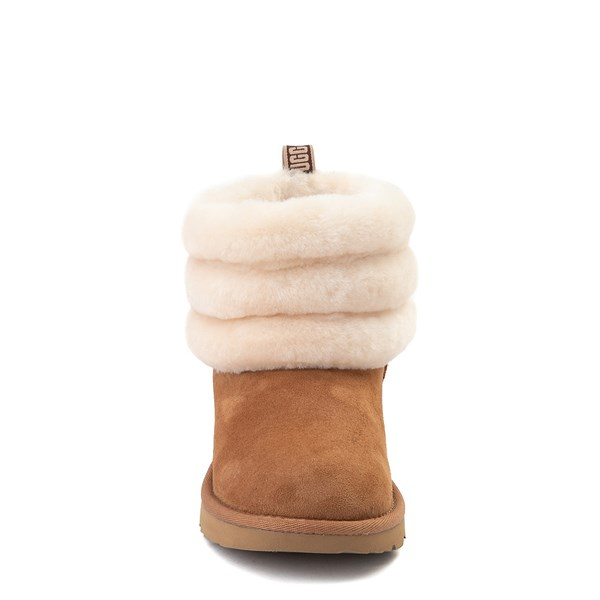alternate view UGG® Classic Mini Fluff Boot - Little Kid / Big Kid - ChestnutALT4