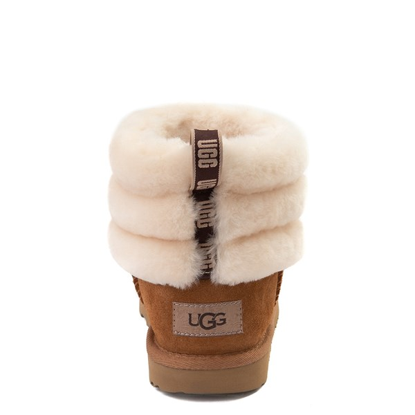 alternate view UGG® Classic Mini Fluff Boot - Little Kid / Big Kid - ChestnutALT6