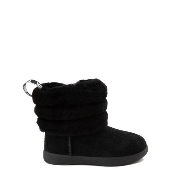 UGG® Classic Mini Fluff Boot - Toddler / Little Kid - Black