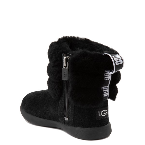 alternate view UGG® Classic Mini Fluff Boot - Toddler / Little Kid - BlackALT1