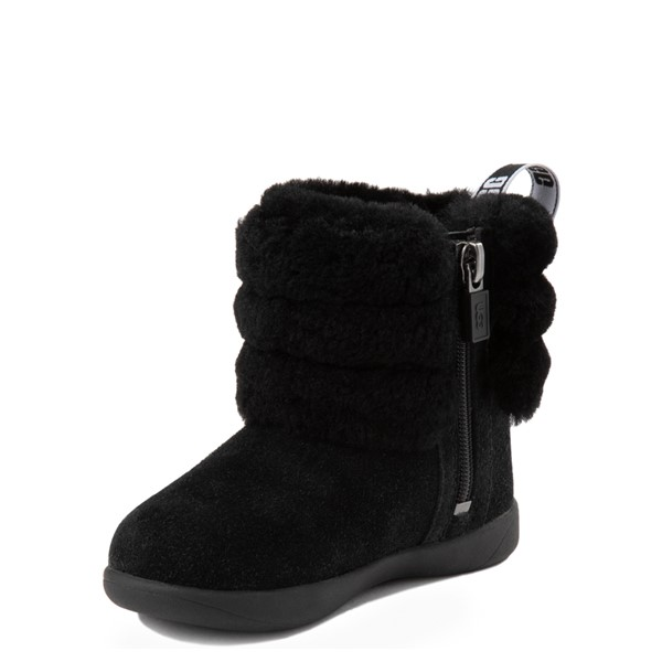 alternate view UGG® Classic Mini Fluff Boot - Toddler / Little Kid - BlackALT2