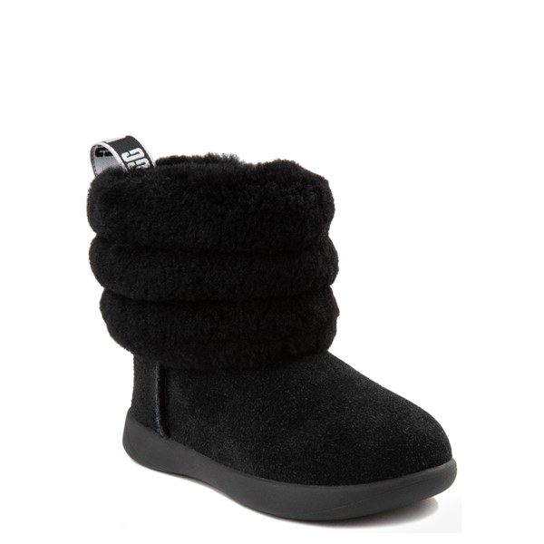 alternate view UGG® Classic Mini Fluff Boot - Toddler / Little Kid - BlackALT5