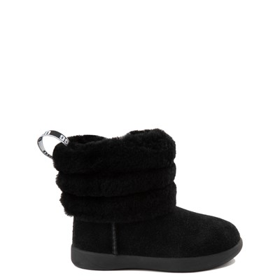 Main view of UGG® Classic Mini Fluff Boot - Toddler / Little Kid - Black