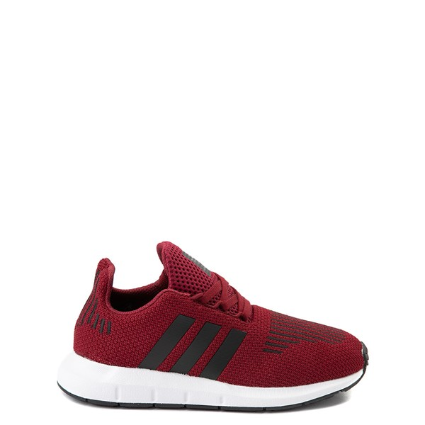 Main view of adidas Swift Run Athletic Shoe - Little Kid - Burgundy