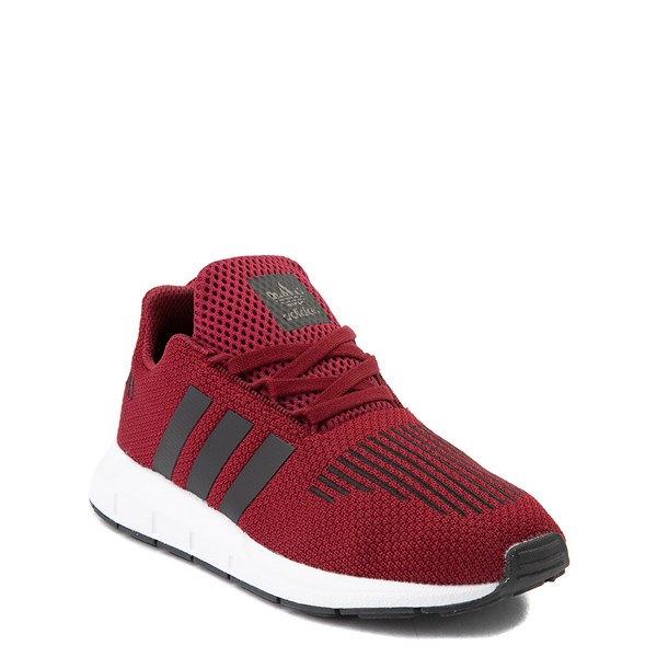 alternate view adidas Swift Run Athletic Shoe - Little Kid - BurgundyALT1