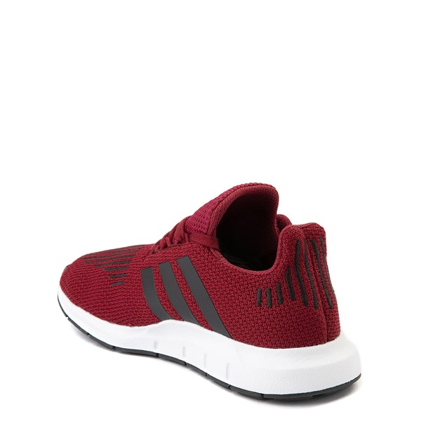 alternate view adidas Swift Run Athletic Shoe - Little Kid - BurgundyALT2