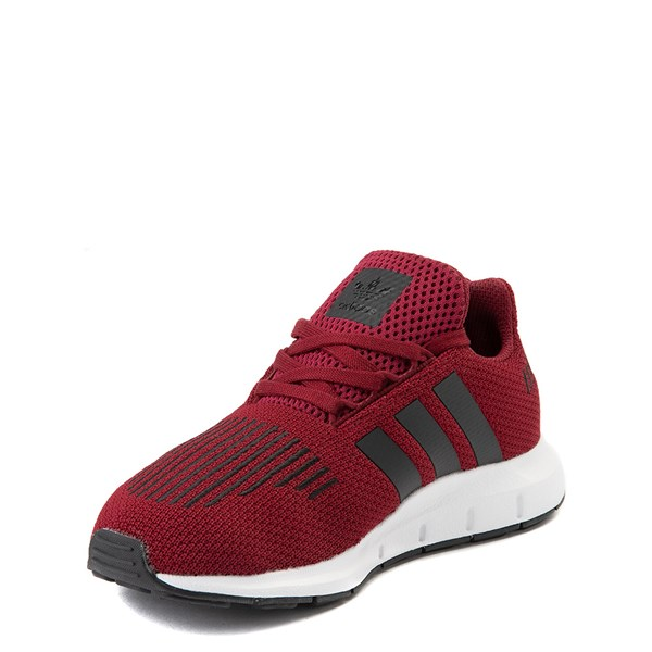 alternate view adidas Swift Run Athletic Shoe - Little Kid - BurgundyALT3