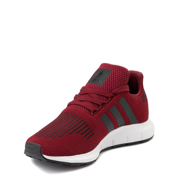 alternate view adidas Swift Run Athletic Shoe - Big Kid - BurgundyALT3