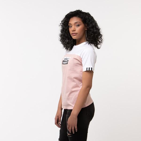 alternate view Womens adidas Vocal Tee - Pink/WhiteALT2