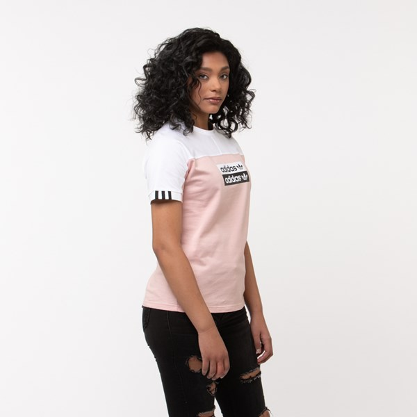 alternate view Womens adidas Vocal Tee - Pink/WhiteALT3