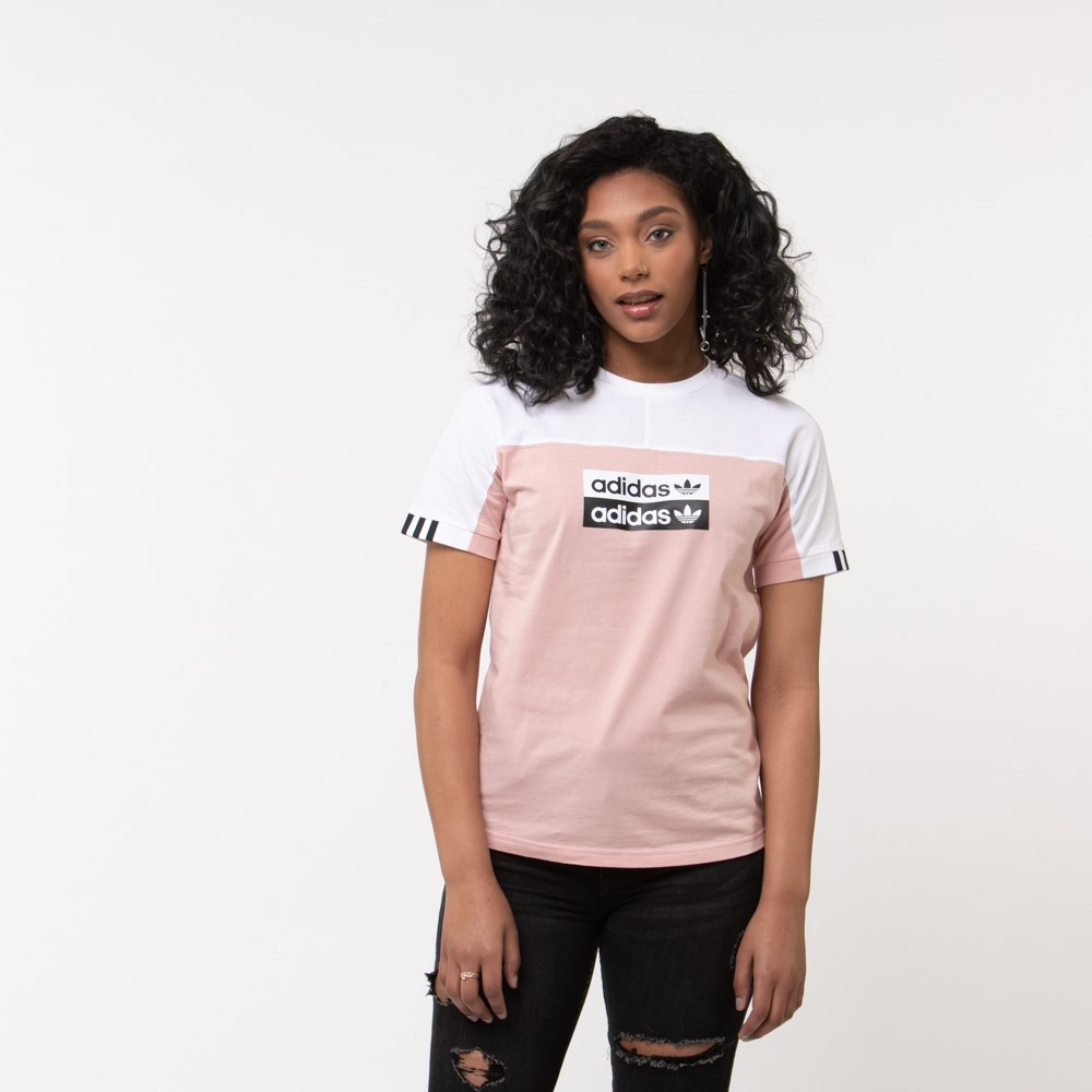 Womens adidas Vocal Tee - Pink/White