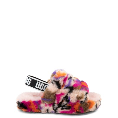 Main view of UGG® Fluff Yeah Slide Sandal - Little Kid / Big Kid