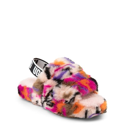 Alternate view of UGG® Fluff Yeah Slide Sandal - Little Kid / Big Kid