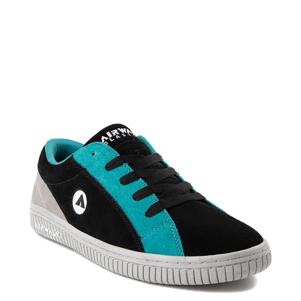 alternate view Mens Airwalk The One Skate Shoe - Black / Gray / TurquoiseALT1
