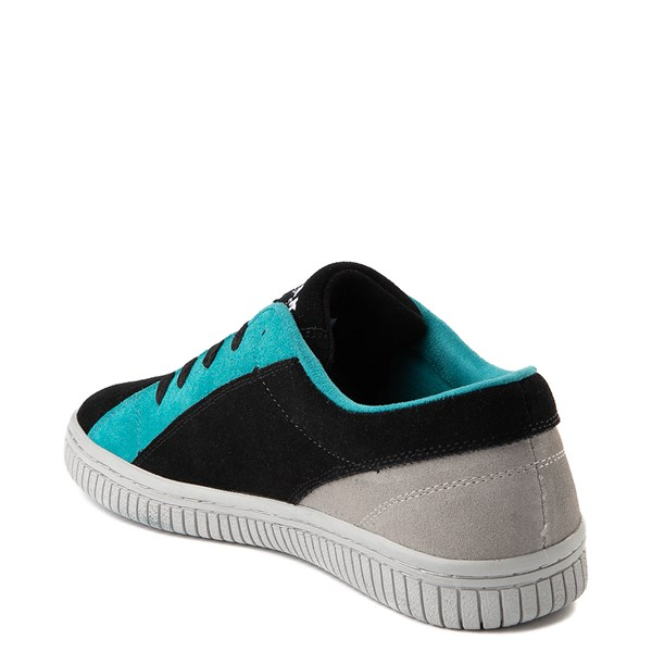 alternate view Mens Airwalk The One Skate Shoe - Black / Gray / TurquoiseALT2
