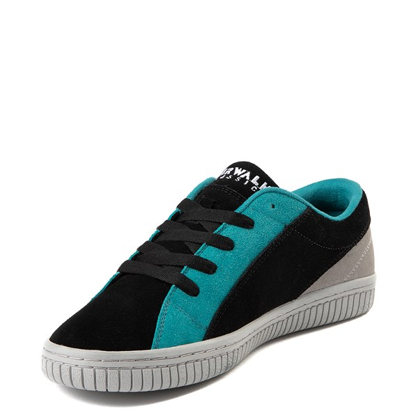 alternate view Mens Airwalk The One Skate Shoe - Black / Gray / TurquoiseALT3